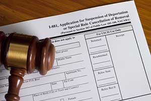 Form I-881 for cancellation of removal