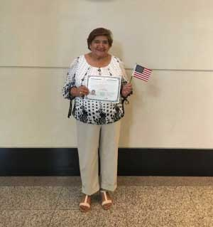 Maria Heredia obtaining lawful residency in the US