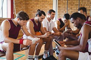 Athletes reading P-1A visa application