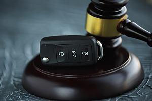 Car keys with gavel