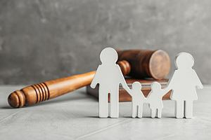 Family cutout by gavel