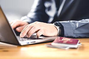Person filling out U-visa application