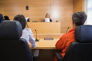 Person testifying in court case