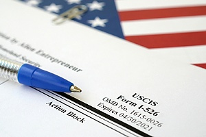 USCIS Form i-526 which should be filled out by EB-5 visa applicants
