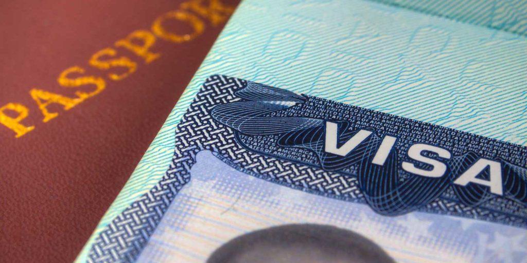 Close up view of an A-1 Visa