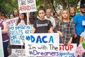 Immigrants supporting DACA