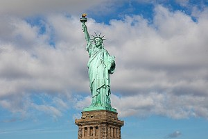 Statue of Liberty in New York City. O-1 visa allows individual skilled in certain categories to enter the United States for work.
