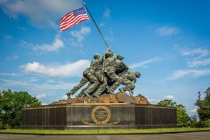 The US Marine Corps War Memorial in Virginia. Decriminalization of marijuana in Virginia is an important one