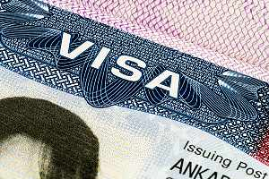 EB-3 visa sitting on table