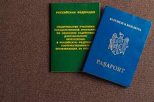 Passports sitting on table