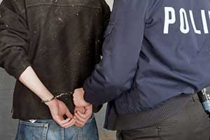 Person being arrested for possession of Schedule 2 controlled substances