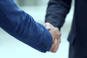 Lawyer Shake Hands Showing Trustworthy Work